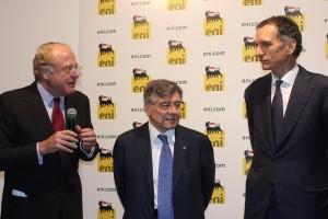 Un momento della conferenza stampa a Ferrera Erbognone (foto di Evgeny Utkin)