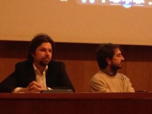 A sinistra, Mattia Fantinati, parlamentare Movimento 5 Stelle e Nicola Baggio, responsabile tecnico di Futura
