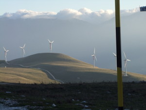 Impianti eolici sui monti dell'alto Molise
